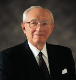 Perpetual Education Fund program used by Mormons - photo of the late Gordon B. Hinckley